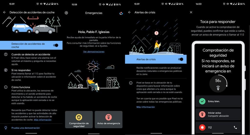 proteccion anti accidentes android